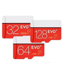 Wholesale Blue Sd Card - Class 10 EVO 64GB 32GB 128GB Micr SD Card Memory Card C10 Flash SDHC SD Adapter White Blue Retail Package white red blister package