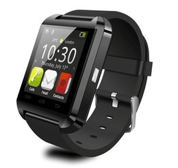 Smartwatch U8 U часы смарт-часы Наручные часы поддержка iPhone 4 4S 5 5S Samsung S4 S5 примечание 2 Примечание 3 HTC Android телефон носимых технологии от