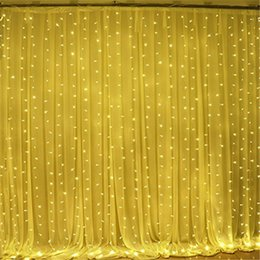 Wholesale jars for decoration - 3M By 3M 300 LED Icicle String Lights Christmas Fairy Lights Outdoor Home for Wedding Party Curtain Garden Decoration