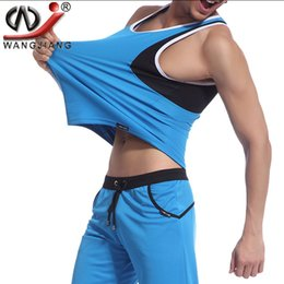 Wholesale Athletic Tank Tops - Mens Vest Tops Shirt Summer WJ Brand 2016 Casual Running Gym Clothing Solid Basketball Sleeveless Mens Athletic Tank Top