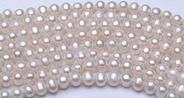 Wholesale Circle Punches - Factory direct selling fresh water pearl semi-finished women's necklace white punch 8~9mm 37mm