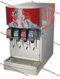 Wholesale Commercial Dispenser - Free Shipping Commercial Countertop 110v 60Hz 220v 50Hz Electric 4 Flavor Drink Beverage Soda Fountain Dispenser Machine