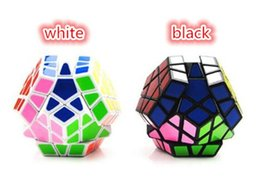 Wholesale Megaminx Cube - 192pcs fashion 2 designs Megaminx Magic Cubes Pentagon 12 Sides Sticker Dodecahedron Toy Puzzle Twist for baby gift D692