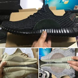 Wholesale B Keychain - [with Box socks receipt keychain] Wholesale 2016 350 Boost Pirate Black Moonrock Oxford Tan Turtle Dove Men Running Shoes Sneaker
