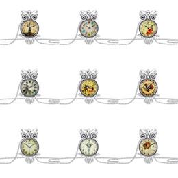 Eulen-weihnachts-pullover online-Neueste Vintage Eule Anhänger Halskette Kette Mode Frauen Kinder Kinder Cartoon Eulen Pullover Halsketten Charme Schmuck Weihnachtsgeschenk