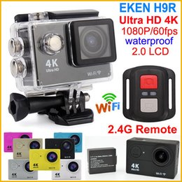 Wholesale Wholesale Used Electronics - WiFi Action camera Ultra HD 4K 1080P 60fps 2.0 LCD 170 lens Helmet Cam waterproof Sport camera Remote Control EKEN H9 H9R