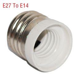 Wholesale e14 e27 adapter converter - Wholesale-New Fireproof Material E27 to E14 lamp Holder Converter Socket Conversion light Bulb Base type Adapter