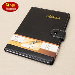 Wholesale School Notebook A5 - Wholesale- Leather notebook notepad commercial diary A5 black students stationery school & office supplies
