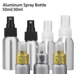 Wholesale Etching Spray - 30 50ml Aluminum Spray Bottle Water Atomize Sprayer Hair Salon Cosmetic Makeup K00195