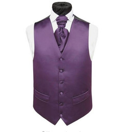 Wholesale Black Waistcoat Lapels - 2016 Custom Made Formal Purple Men's Waistcoat Fashion Groom Vests Casual Slim Vests Custom Made Plus Size Maxi