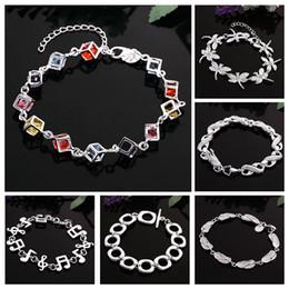 Wholesale Flip Flop Bracelets - Handmade Crystal Bracelets For Women Girls Best Friends Famous Brand Dragonfly Charm Bracelet Flip Flop Jewelry 2016 Pulseras Bijoux