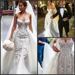 Wholesale Cheap Country Skirts - 2016 Mermaid Modest Bohemian Crystal Country Wedding Dresses With Detachable Skirt Real Photo Cheap Bridal Gowns