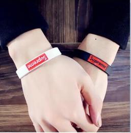 Wholesale Hip Mens Bracelets - sports mens bracelet hip hip Sup silicon bracelet Hot Sale Fashion Wristband Silicone Bracelets&Banles Logo Design Women