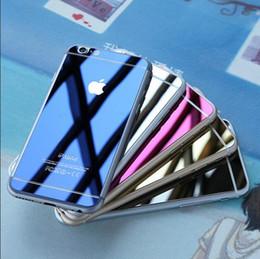 2pc / set coloré Eletroplating verre trempé pour iPhone 6 6s 6+ 6s + miroir avant et arrière film coloré Full Protecteur d'écran ? partir de fabricateur