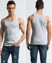 Wholesale Good Fashion Stores - NEW Fashion new store with discount men's tank tops good quality and cheap cotton breathability 3pc lot wholesale three color can choice