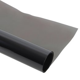 Wholesale Grey Foil - Wholesale- 50*300cm Dark Grey Car Side Window Foils Solar Protection Tinted Film Sun Shade Car Window Films