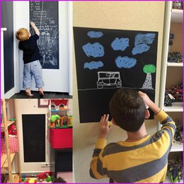 Pizarra adhesiva online-(17.7 x 78.7 inch) Adhesive Chalkboard Decal Wall Sticker Film, Home Decor Mural, Chalkboard Stick Roll, Blackboard Stickers for kids