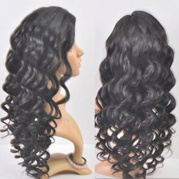 Wholesale Human Hair Super Long Wig - Super Wave high Density Indian Full Lace Wigs 100% Human Hair Wigs with Bleached Knots For Black Women Lace Front Wig