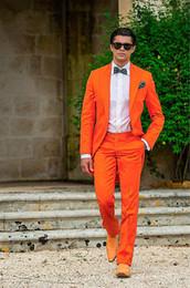 Sunshine Energetic Orange Tailed plafonné Sommet Smokings Marié Slim Fit robe de mariage des hommes de vacances Holiday Clothing (veste + pantalon) ? partir de fabricateur