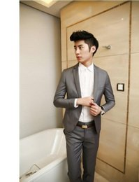 Wholesale Variety Business - Sales hot fashion gun in 2016 brought a variety of colors to choose high grade men business suits the wedding party atmosphere