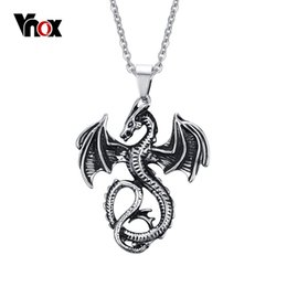Wholesale Black Dragon Jewelry - 2016 Fashion Pendants & Necklaces for Men Dragon Stainless Steel Punk Pendant Mens Charm Jewelry Chain