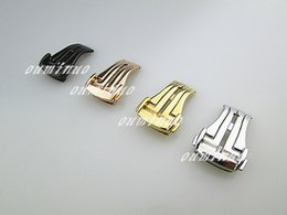 Wholesale Watch Push Button Clasp - 18mm 20mm NEW Stainless steel Deployment Buckle Watch band Clasp for Omega Watch