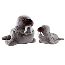 Wholesale Peluche Toy - Walrus Stuffed Animal Simulation Plush Toys Cute Pillow Jouet Peluche Birthday Gift Baby Knuffel Toys For Children Girls 50G0462