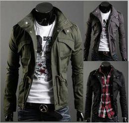 Wholesale Korean Casual Frocks - New Arrivals Korean version of autumn and winter fashion Outerwear & Coats Men washing coat, frock jacket Slim Jackets JK05