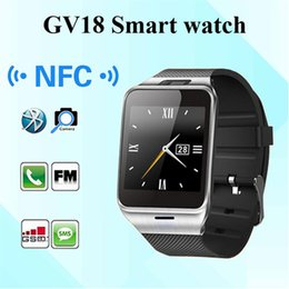 Wholesale Gsm Camera For Home - GV18 NFC Aplus Smart Watch With touch Screen Camera Bluetooth NFC SIM GSM Phone Call U8 data sync Waterproof for Android Phone