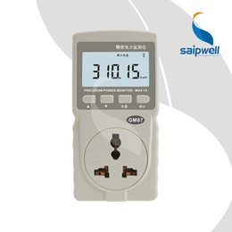 Wholesale Energy Monitor Meter - Wholesale-Intelligent Power Meter LCD Monitor Measure ConsumptIon AC Active Energy Saving Monitoring Used in Home Rental Estates (SPM87)