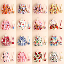 Wholesale Green Print Skirt - 16 Designs Girls' Flora Flax Dresses Buns Asymmetrical Cartoon Perfume Bottle Pink Girls Underglaze Blue Painting Printed Kids Summer Skirts