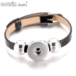 Wholesale Bohemian Bracelet Diy - SZ0281 New Arrivals 15pieces lot 15cols cheaper PU Leather Bracelet fit 18mm DIY snap button armband Jewelry