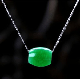 Wholesale Chinese Jade Necklaces - Details about Natural Hand-carved Chinese Jade Necklace Pendant-Green