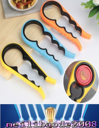 Wholesale Free Jar Opener - Easy Grip Lids Off Jar Opener Can Opener and Bottle Opener Made of Good Quality Plastic free shipping MYY