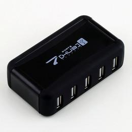 Prises d'alimentation de l'ordinateur en Ligne-Hub USB 2.0 haute vitesse 7 ports avec adaptateur secteur pour ordinateur portable PC