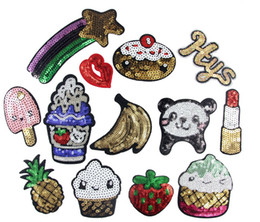 Wholesale Embroidery Sequin Patch - Mixed 13pcs popular sequins Phone case paillette Embroidered patches,iron on cartoon Motif Applique garment embroidery accessory