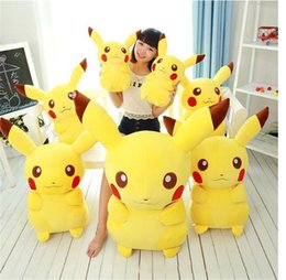 Wholesale Pikachu Plush Doll Christmas - 30CM Poke Pikachu Plush Toys Cartoon Cute Pikachu Charizard Action Figures Doll Chilren Best Christmas Gifts