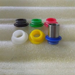 Wholesale Drip Tip Adapters - 810 to 510 Drip Tip Adapter Connector POM Material fit TFV8 TFV12 Kennedy Griffin25 528 Goon Battle 810 RDA RDTA RTA Atomizers
