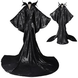 Wholesale Halloween Dress Witch - HOT Top Selling Movie Adult Maleficent Angelina witch Sleeping Beauty Dress Cosplay COSTUME Halloween Suit Cosplay Party Chrismas