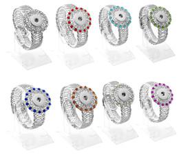 Wholesale Flexible Heart - 2016 Metal Charm NOOSA Bracelet Flexible Interchangeable Crystal DIY Jewelry Crystal Jewelry Fit 18mm Button Pack Of 20pcs E848L