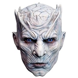 Wholesale zombies props - Hot New Adult Scary Latex Game of Thrones Night King Party Masks Cosplay Full Walker Face Halloween Mask Zombie Movie Costume Mask Props