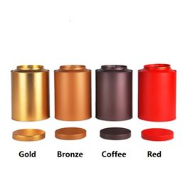 Wholesale Large Wholesale Candy Boxes - 15*22cm Round large capacity tea tin box candy metal storage box for tea 500g