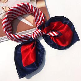 Wholesale Cheap Silk Clothing - 5pcs lot Femme Women Head Scarves Soft Silk Feel Satin Square Scarf Shawl Floral Pattern Bandana Cheap-Clothes-China