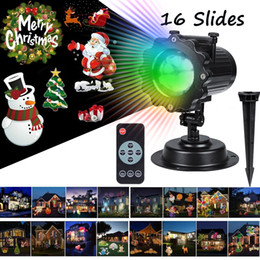 Wholesale Remote Pattern - Christmas Lights Projector 16PCS Pattern Waterproof Projector Landscape Lighting with Remote Control for Halloween Party Garden Decorations