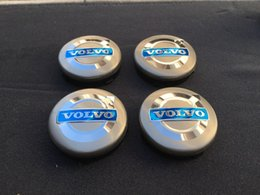 Wholesale Volvo Hub Cap - NEW VOLVO SET OF 4 GRAY CENTER WHEEL COVER HUB CAPS EMBLEM RIM BADGE 3546923 Free shipping YY366