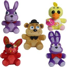 Wholesale Freddy Doll - Game Toys 7 Inch Five Nights at Freddy's Plush Bonnie Foxy Freddy Chica Fazbear Fever Plush Toy Stuffed Soft Dolls Animals Toy