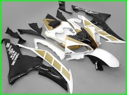Wholesale Yzf R6 Fairings Black Gold - 4 Free Gifts New Injection ABS Fairing kit 100% Fit for YAMAHA YZFR6 08 09 10 11 12 13 14 15 YZF R6 2008-2015 YZF600 Fairings Set gold black
