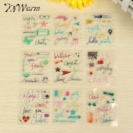 Wholesale Stamping Scrapbook - Wholesale-1Pcs Small Transparent Silicone Stamps Seal Ornaments Scrapbook Photo Album Card Hand Account Decor Supplies Pattern Randomly