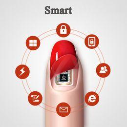 protectores de pantalla diseñados Rebajas N2 Wearable Smart Nail Sticker NFC Lock Decal Navidad 3D Design Tattoo para N2F Private Screen Protector como tarjeta de compra Accesorios