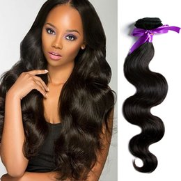 Wholesale Cheap Hair Weave Free Shipping - 3Pcs Lot Brazilian Human Hair Weave Cheap 5A Human Hair Full Ends Mike Body Wave Hair Extensions Free Shipping